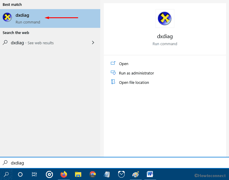 How to Open DirectX Diagnostic Tool in Windows 10 image 2