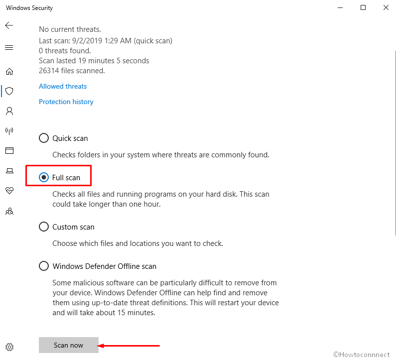 Scan your full system in Windows Security Image 4