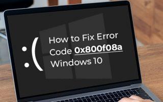 Error Code 0x800f08a